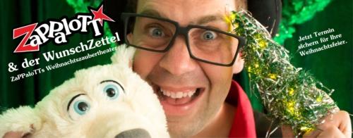 ZaPPaloTT Zauberweihnachtstheater Zauberer mit Eisbär